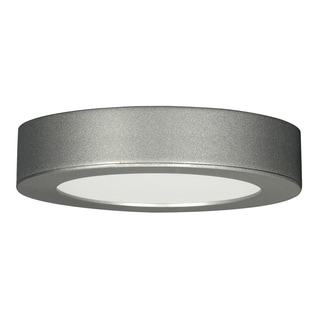 13.5 watt; 7-inch Flush Mount LED Fixture; 3000K; Deep Dish; Satin Nickel120 volts