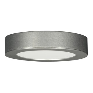 13.5 watt; 7-inch Flush Mount LED Fixture; 3000K; Deep Dish; Satin Nickel120 volts