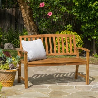 Loja Outdoor Acacia Wood Bench by Christopher Knight Home (More options available)