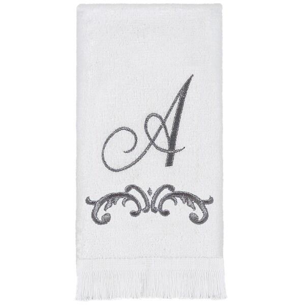 Scroll Monogram Fingertip Towel