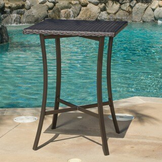 Riga Outdoor Wicker Bar Table (Only) by Christopher Knight Home (As Is Item)