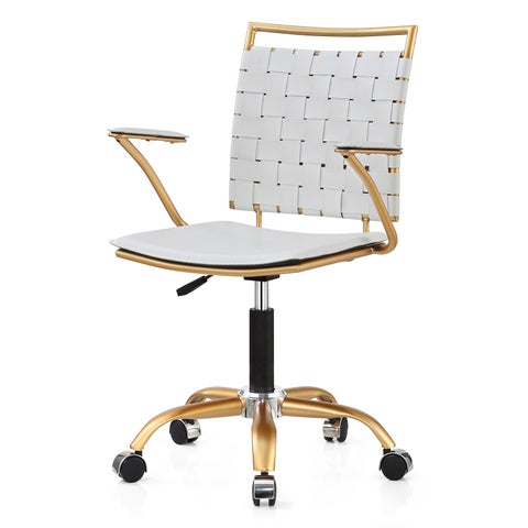 Silver Orchid Lee Gold-finished Adjustable Office Chair