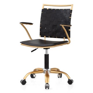 m356 gold and black office chair
