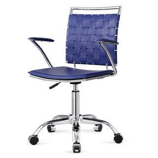 Office Chair in Blue with Weaved Back