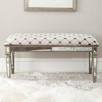 Safavieh Layla Moroccan Grey/ Beige Upholstered Bench