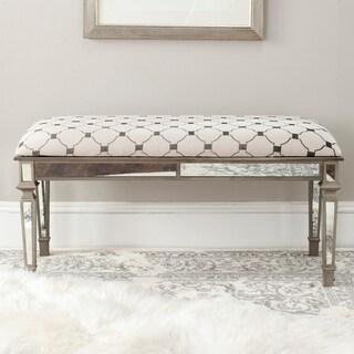 Merveilleux Safavieh Layla Moroccan Grey/ Beige Upholstered Bench