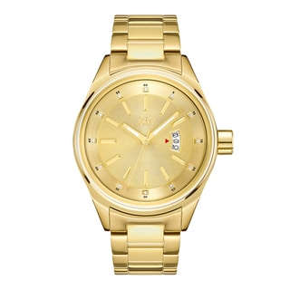 JBW Men's 18k Goldplated Stainless Steel Diamond Rook J6287L Gold Dial Watch