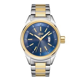 JBW Men's Two-tone Stainless Steel and Gold Diamond Rook J6287N Watch