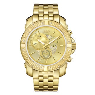 JBW Men's 18k Goldplated Stainless Steel Warren J6331D Gold Dial Chronograph Watch