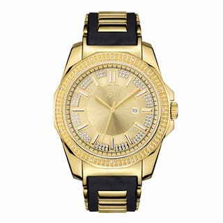 JBW Men's Black Silicone Goldplated Stainless Steel Diamond Regal J6332A Watch|https://ak1.ostkcdn.com/images/products/11642123/P18574763.jpg?impolicy=medium