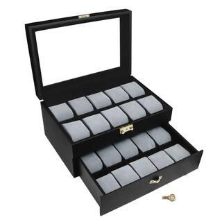 Ikee Design Goldtone Key Lock Watch Display Case|https://ak1.ostkcdn.com/images/products/11642145/P18574786.jpg?impolicy=medium
