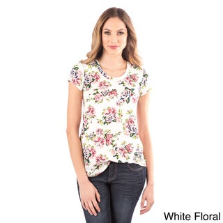 DownEast Basics Floral Easy Fit Tee