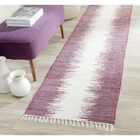 Safavieh Hand-woven Montauk Purple Cotton Rug - 2'3 x 9'