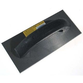 "QEP 10125 4"" X 9"" Black Economy Notched Trowel"