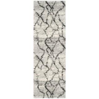 Safavieh Retro Modern Abstract Light Grey/ Black Rug (2'3 x 11')