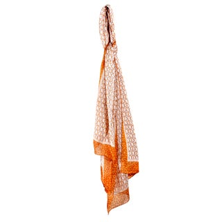 Davidoff Silk Orange Circled Scarf