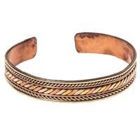 Braided Tri-Metal Healing Cuff