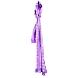 Davidoff Silk Purple Circled Scarf