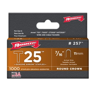 "Arrow Fastener 257 7/16"" T25 Staples"