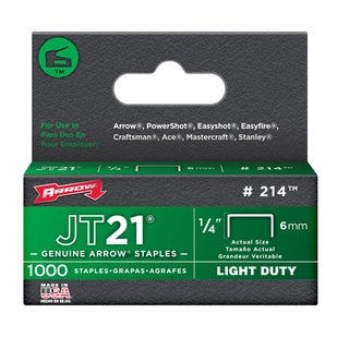 "Arrow Fastener 214 1/4"" JT21 Staples"