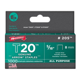 "Arrow Fastener 205 5/16"" T20 Staples|https://ak1.ostkcdn.com/images/products/11642374/P18574959.jpg?_ostk_perf_=percv&impolicy=medium"