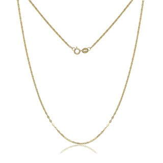 14k Yellow Gold Alternate Mariner Chain Necklace