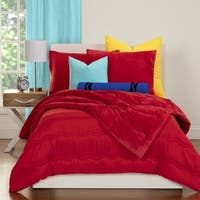 Crayola Playful Plush Pleated 3-piece Comforter Set