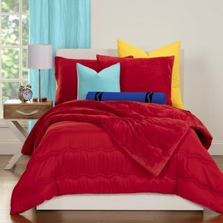 Crayola Playful Plush Pleated 3-piece Comforter Set (More options available)