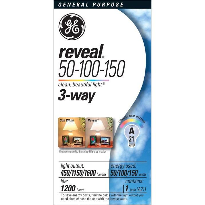 GE Lighting 97785 Reveal 3-Way Light Bulb (Light bulbs), ...