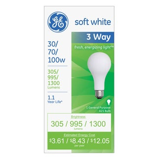 GE Lighting 97493 3 Way 30 70 100 Incandescent Light Bulb Soft White