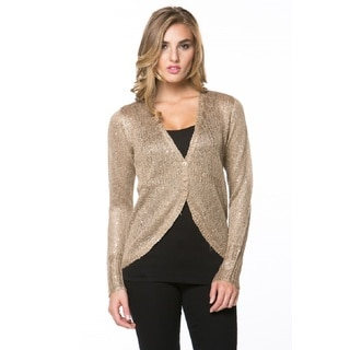 High Secret Women's Embellished Button Down Cardigan (Option: Gold)