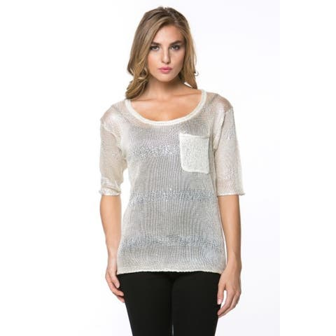 High Secret Women's Embelllished Short Sleeve Top