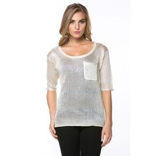 High Secret Women's Embelllished Short Sleeve Top