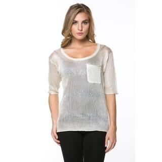 High Secret Women's Embelllished Short Sleeve Top|https://ak1.ostkcdn.com/images/products/11642510/P18575032.jpg?impolicy=medium