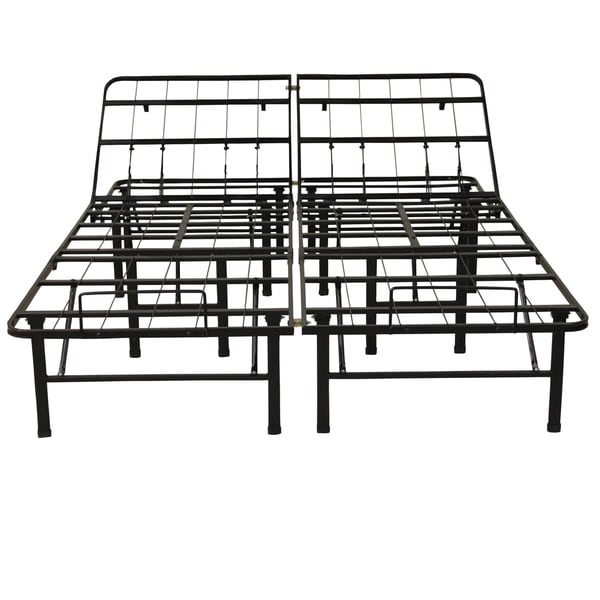 Postureloft Adjustable 14 Inch Heavy Duty Metal Bed Frame