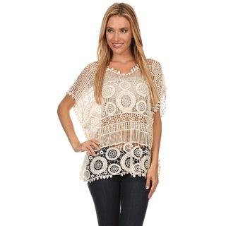 High Secret Women's Crochet Top|https://ak1.ostkcdn.com/images/products/11642535/P18575108.jpg?_ostk_perf_=percv&impolicy=medium