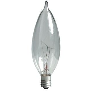 GE Lighting 76234 25 Watt Crystal Clear Bent Tip Light 4-count