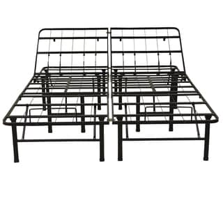 PostureLoft Adjustable 14-Inch Heavy Duty Metal Bed Frame/Mattress Foundation or Box Spring, Twin XL Size