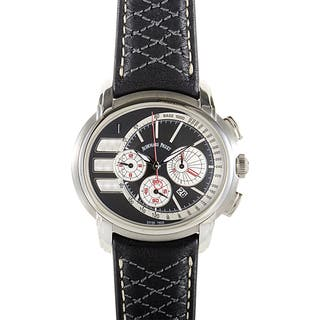 Audemars Piguet Men's Black Leather Stainless Steel Millenary Tour Auto 2011 Chronograph Watch|https://ak1.ostkcdn.com/images/products/11642620/P18575190.jpg?impolicy=medium