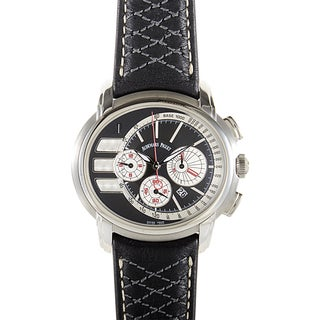 Audemars Piguet Men's Black Leather Stainless Steel Millenary Tour Auto 2011 Chronograph Watch