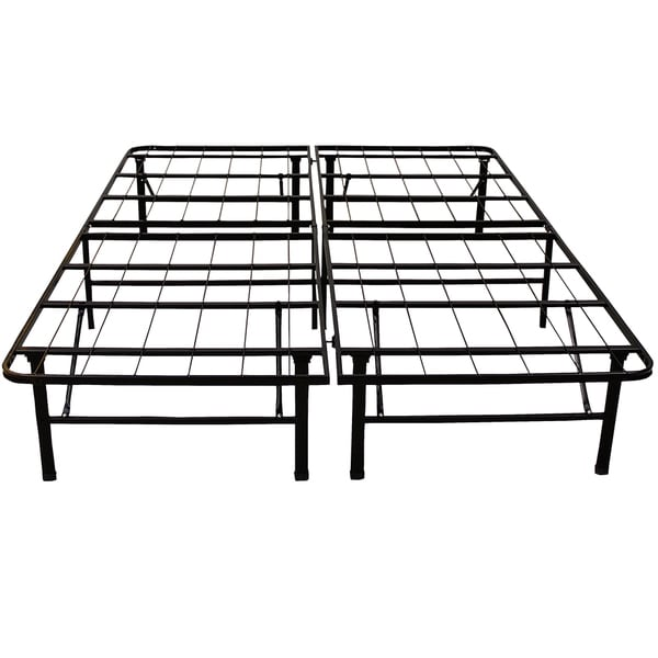 postureloft hercules platform 14 inch heavy duty queen size metal bed frame mattress foundation. Black Bedroom Furniture Sets. Home Design Ideas