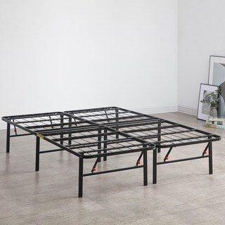 PostureLoft Hercules Black Heavy-duty Metal 14-inch Platform Bed Frame and Mattress Foundation