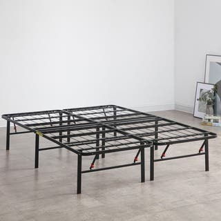 postureloft hercules platform 14 inch heavy duty metal bed frame mattress foundation - Enclosed Bed Frame