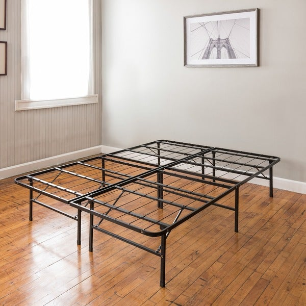 postureloft hercules platform 14inch heavy duty metal bed frame mattress foundation