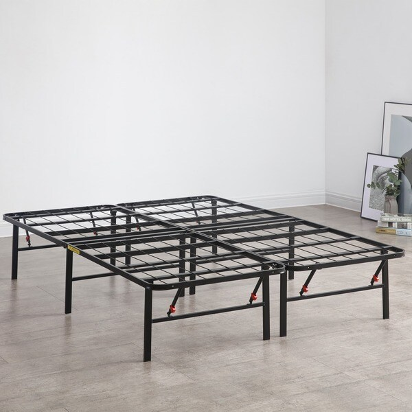 shop osleep platform 14 inch heavy duty metal bed frame mattress foundation free shipping. Black Bedroom Furniture Sets. Home Design Ideas