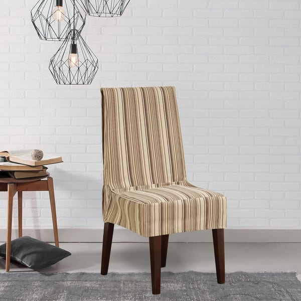 Shop Sure Fit Harbor Stripe Dining Room Chair Cover - Free ...