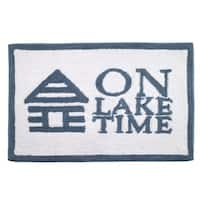 Lake Words Bath Rug