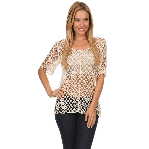 Shop High Secret Womens Short Sleeve Crochet Top On Sale Free