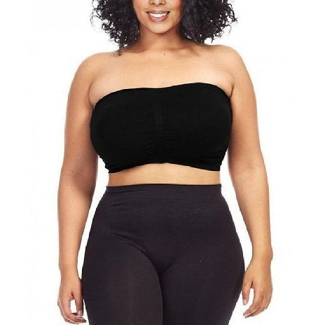 Dinamit Womens Plus Size Seamless Padded Bandeau Top
