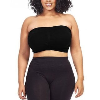 Dinamit Women's Plus Size Seamless Padded Bandeau Top